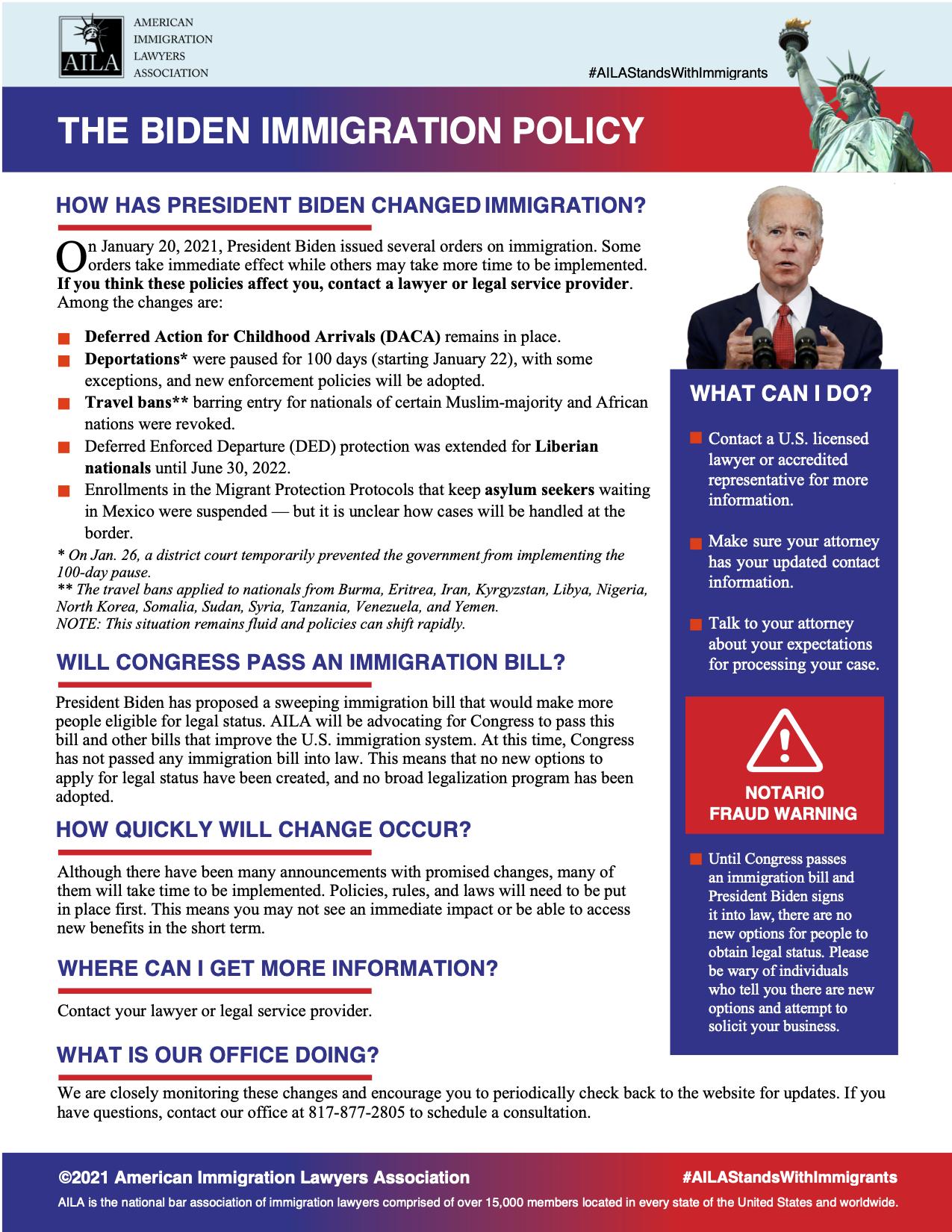 Biden Immigration Policy
