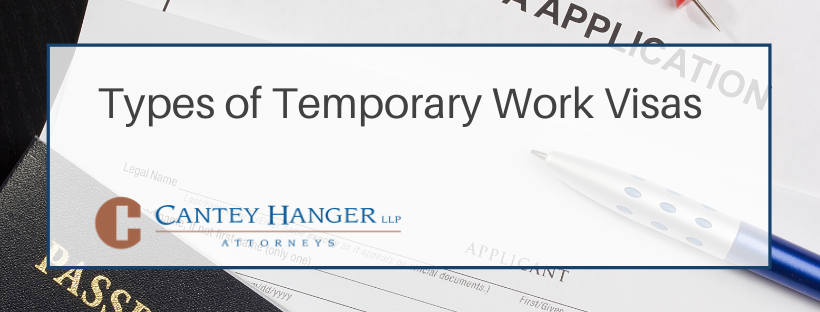 Types of Temporary Work Visas